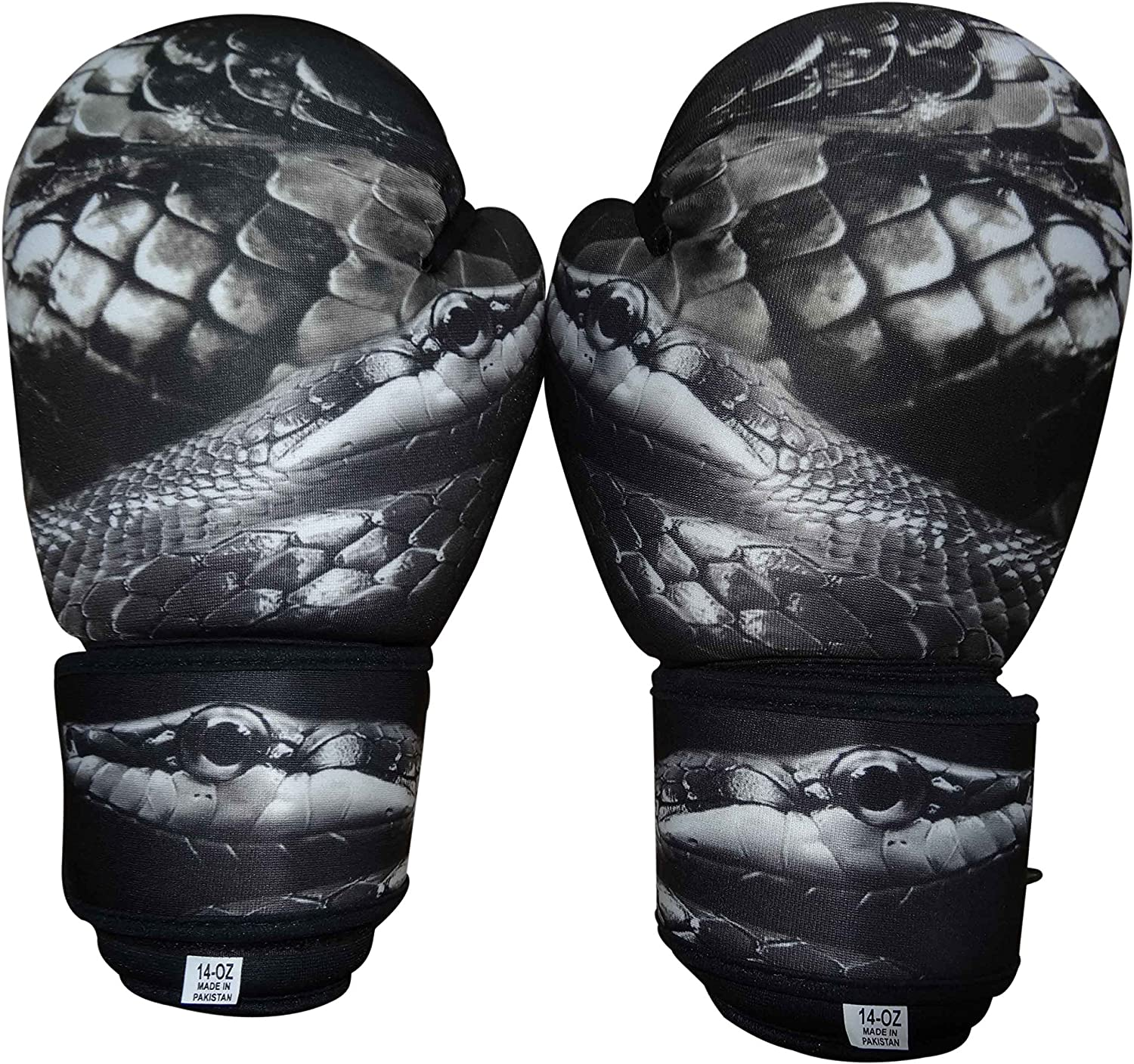 Woldorf USA 4 years warranty Washable Grey Boxing Bag Gloves Excellent Snake Imprint 1 with