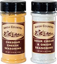 Amish Country Popcorn - Sour Cream & Cheddar Cheese (2 Pack) Popcorn Seasoning - With Recipe Guide