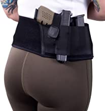 """GoZier Tactical Concealed Carry Belly Band Holster ✮ Neoprene Waist Band System ✮ IWB Holder ✮ Free Zip Wallet Included ✮ Fits Up to 45"""" Waist ✮ for Men and Women"""