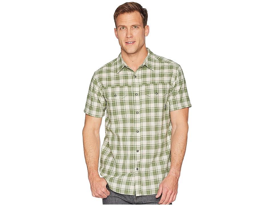 Columbia Leadville Ridge Yarn-Dye Short Sleeve Top (Spring Small Plaid) Men