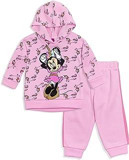 Disney Minnie Mouse Girls Fleece Pullover Hoodie & Jogger Pants Set