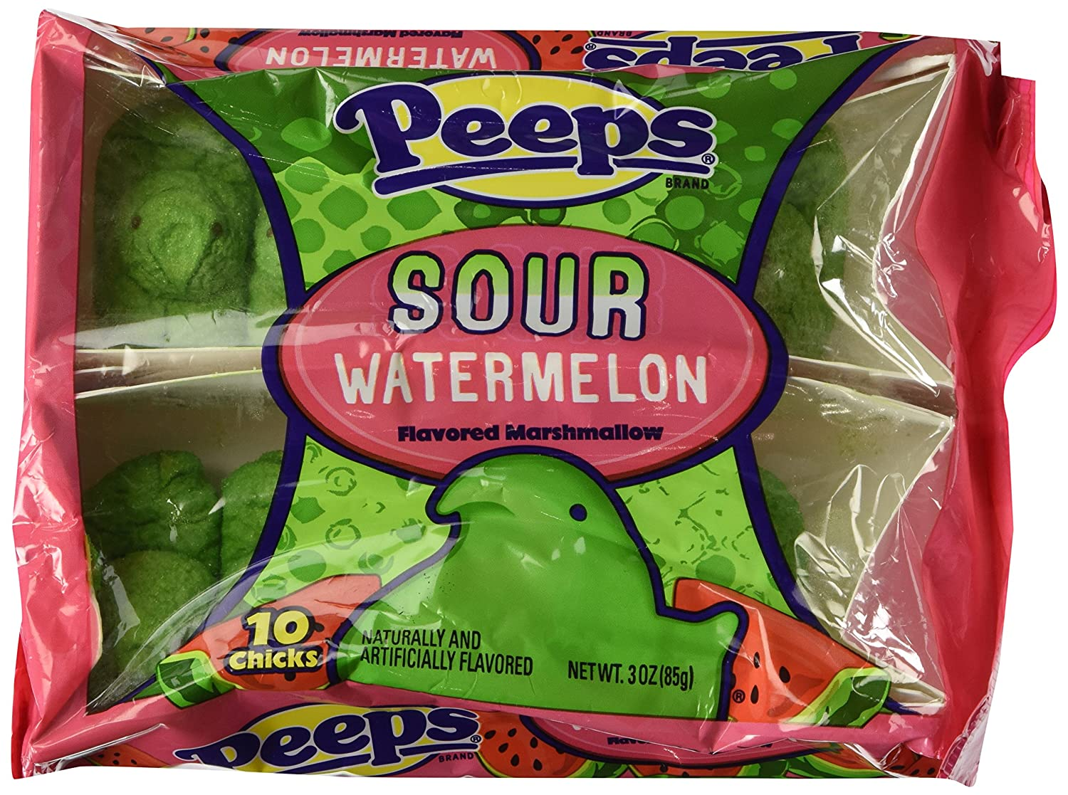 PEEPS SOUR WATERMELON FLAVORED MARSHMALLOW Large-scale sale by PACK Peeps Popular popular 1