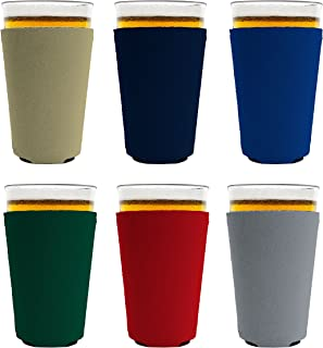 Blank Neoprene Collapsible Pint Glass Coolie (6, Various)