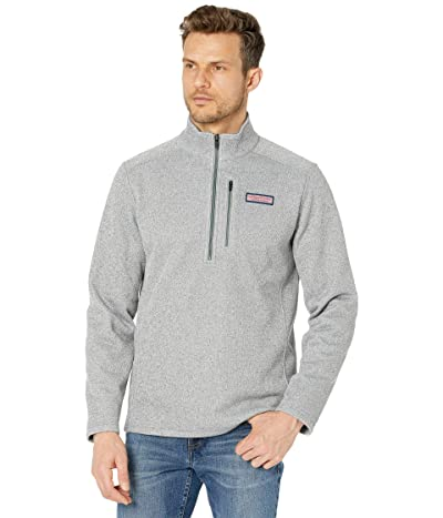 Vineyard Vines Mountain Sweater Fleece 1/4 Zip (Gray Heather) Men