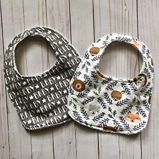 Woodland Animal Baby bib set 0-12 months