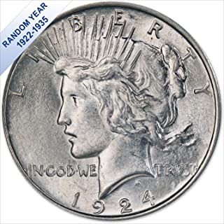 (1922-1935) Peace Silver Dollar (AU) - (with Air-Tite Holder) $1 About Uncirculated