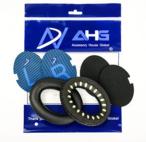 Replacement ear cushions for Bose QuietComfort 2 (QC2) and QuietComfort 15 (QC15) headphones Around-Ear 2 (AE2), Arou...