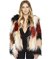 ROMEO & JULIET COUTURE - Colorful Faux Fur Jacket