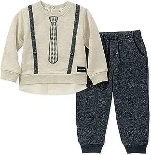 Calvin Klein Baby Boys 2 Pieces Pant Set -Mock Look 3PC
