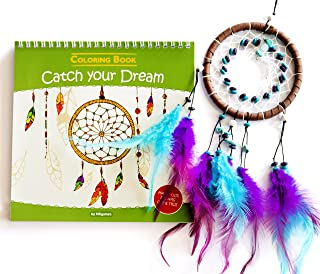 Coloring Book for Kids + Dream Catcher - Catch Your Dream. Inspiring Coloring Pad, The Mandalas, Feathers, Hearts and More.