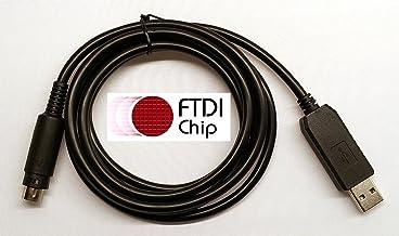 BlueMax49ers FTDI USB TNC Programming CAT Cable for Kenwood /TM-D700 TS-480 TS-570 TS-590 TS-590G TS-870 TS-870S TS-990S TS-2000 TS-B2000 ST-9F