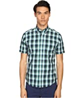 Jack Spade - Caulfield Short Sleeve Button Down Blocked Plaid