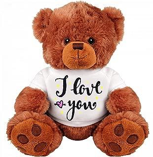 Teddy Bear Couple Gift: Funny Medium Teddy Bear Stuffed Animal : I Love You