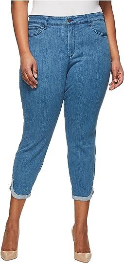NYDJ Plus Size - Plus Size Ami Skinny Ankle w/ Dolphin Hem in Bliss