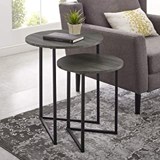 WE Furniture side table, Slate Grey