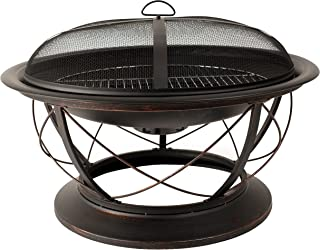 Pleasant Hearth OFW717RC Palmetto Fire Pit with Cooking Grid