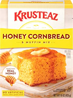 Krusteaz Honey Cornbread and Muffin Mix - No Artificial Colors, Flavors or Preservatives - 15 OZ (Pack of 4)