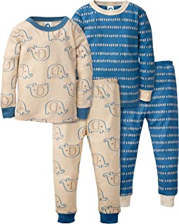Baby Boys' Toddler Organic 2 Pack 2-Piece Cotton Pjs
