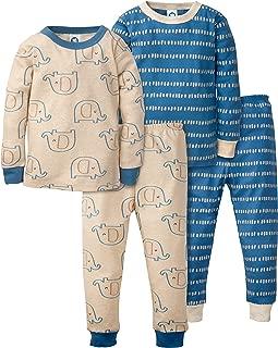 Gerber Baby-Boys Toddler Organic 2 Pack 2-Piece Cotton Pjs Pajama Set