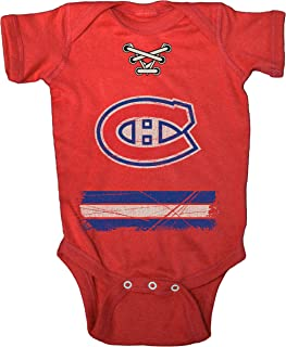 NHL Montreal Canadiens Beeler Vintage Infant Jersey Creeper, Newborn, Red