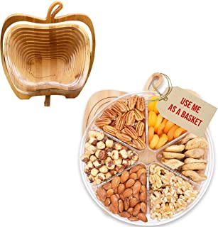 Secret Garden`s Dried Fruit and Nuts Gourmet Food Gift Baskets Turns into Basket Healthy Fresh Gift For Thanksgiving, Fath...