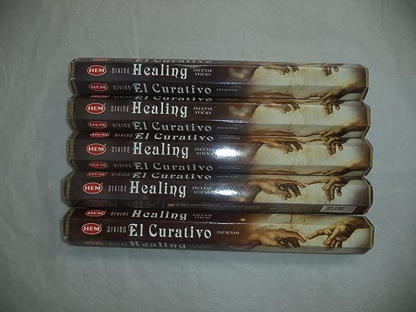 HEM Divine Healing 100 Incense Sticks 5 X 20 Stick Packs