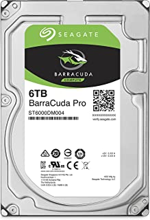 Seagate BarraCuda Pro Internal Hard Drive SATA HDD 12TB 6GB/s 256MB Cache 3.5-Inch (ST12000DM0007) (Renewed)