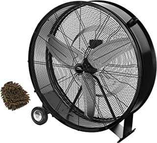 Lakewood Drum Fan, 36 Inches Industrial Grade, LUF3602A-BM-SHP (Complete Set), with Bonus Premium Microfiber Cleaner Bundle