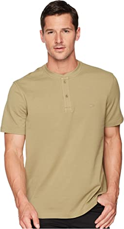 Short Sleeve Henley Waffle Stitch Regular