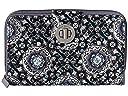 Vera Bradley Rfid Turnlock Wallet (Charcoal Medallion)
