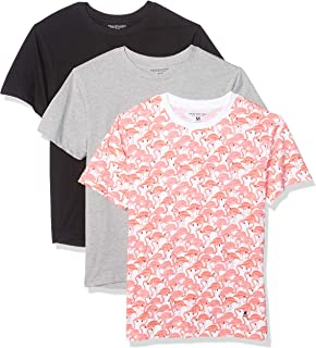 Nick Graham Mens N7NUSC614 All-Over Print Short Sleeve Graphic T-Shirt (3 Pack) Underwear