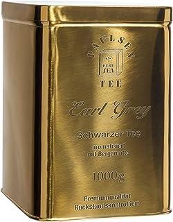 Earl Grey schwarz in sehr hochwertiger Edelstahldose Gold glänzend 1000g 32,95 Euro/kg, rückstandskontrolliert