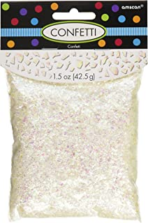 Amscan International 369002 Party Supplies Confetti-14g Emb/Print/Met/SCCONFETTI Shimmering SPRKL IRID, Iridescent, One size
