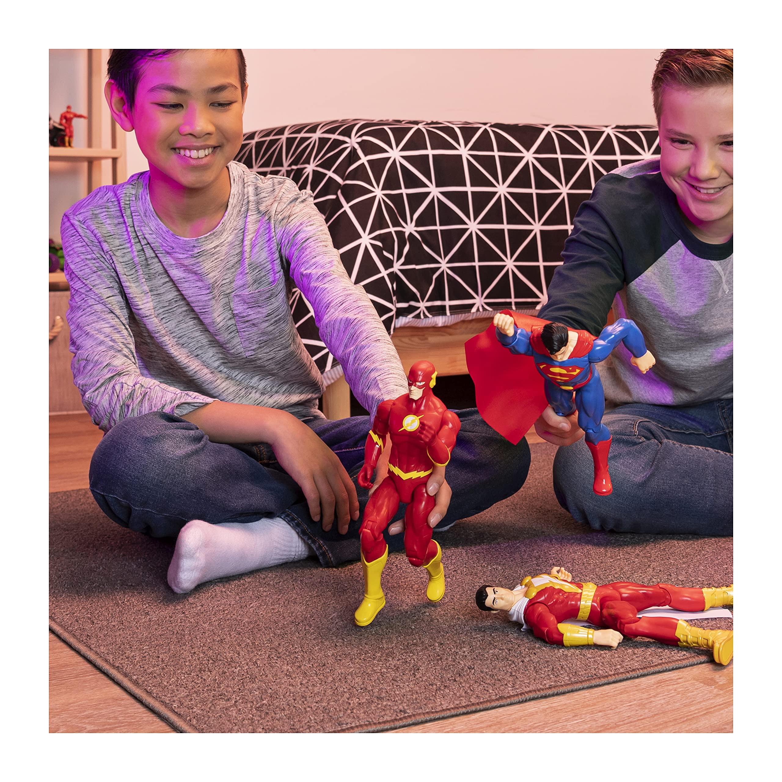 BATMAN DC Comics, 12-Inch THE FLASH Action Figure, Kids Toys for Boys Grey