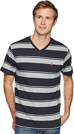 Wide Stripe V-Neck Tee-2N