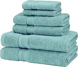 Pinzon 6 Piece Pima Cotton Bath Towel Set - Mineral Green