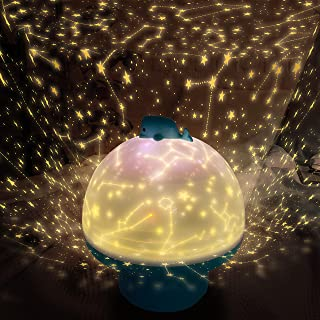 LITTLE STEP 星空プロジェクター 星空ランプ 子供の小夜灯 6種類の可愛いプロジェクションスターライト 360度回転ライト音楽が流れる ムードメーカー 幼児がおもちゃを寝かしつける 誕生日プレゼント