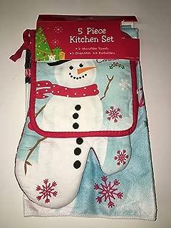Midwood Brands, LLC Five Piece Snowman Christmas Kitchen Towel Set
