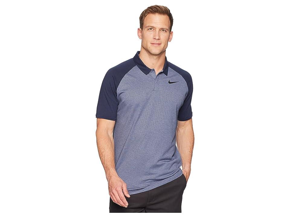 Nike Golf Dry Polo Raglan (Light Carbon/Obsidian/Heather/Black) Men