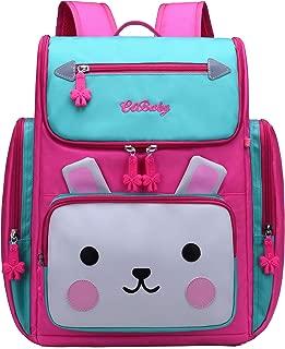 Backpack for Girls, Waterproof Bagpack Pink School Bag Cute Bookbag for Kids 6-10 (Blue + Pink, Small)