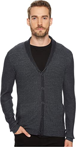 John Varvatos Star U.S.A. - Waffle Knit Shawl Collar Cardigan