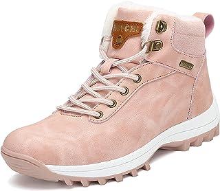 Mishansha Hombre Mujer Botas de Invierno Antideslizante Outdoor Trekking Zapatos