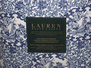 Ralph Lauren Porcelain Blue Comforter Set Queen