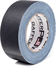 REAL USA Professional Grade Gaffer Tape By Gaffer Power, Made in the USA, Heavy Duty Gaffers Tape, Non-Reflective, Multipurpose. (2 Inches x 30 Yards, Black)