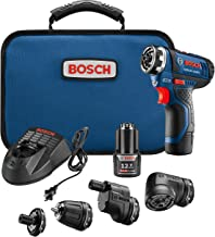 Bosch GSR12V-140FCB22 Cordless Electric Screwdriver Kit - 12V 5-In-1 Multi-Head Power Drill Set