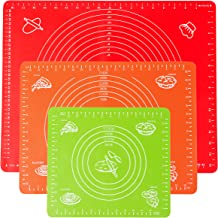 POPCO Silicone Baking Mats set of 3 -Cooking Mats Professional Non-Stick Liner for Making Cookies, Macarons, Bread and Pas...
