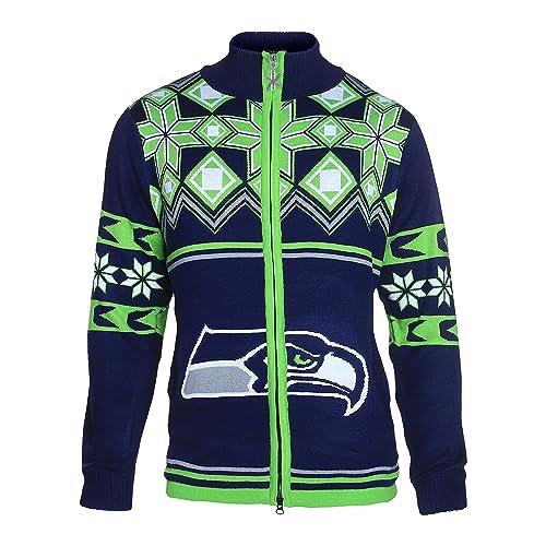 finest selection 4ba78 ab1ea Seattle Seahawks Ugly Sweater: Amazon.com