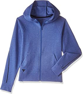 Under Armour Women's The Rock Double Knit Fz Jacket, Blue (Mirror Light Heather/Academy ), Medium