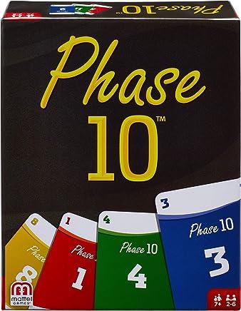 Mattel Games FPW38 - Phase 10 Kartenspiel, geeignet für 2 - 6 Spieler, Spieldauer ca. 60 - 90 Minuten, Gesellschaftsspiele und Kartenspiele ab 7 Jahren