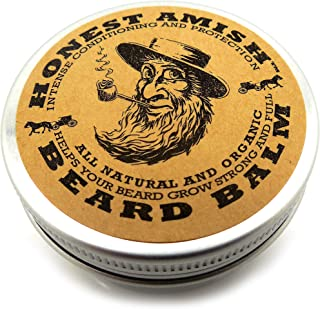 Honest Amish Beard Balm Leave-in Conditioner – Made with only Natural and Organic..